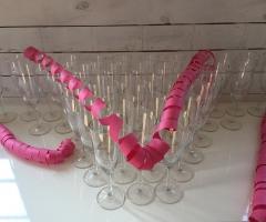 Dukning för bröllopsfest